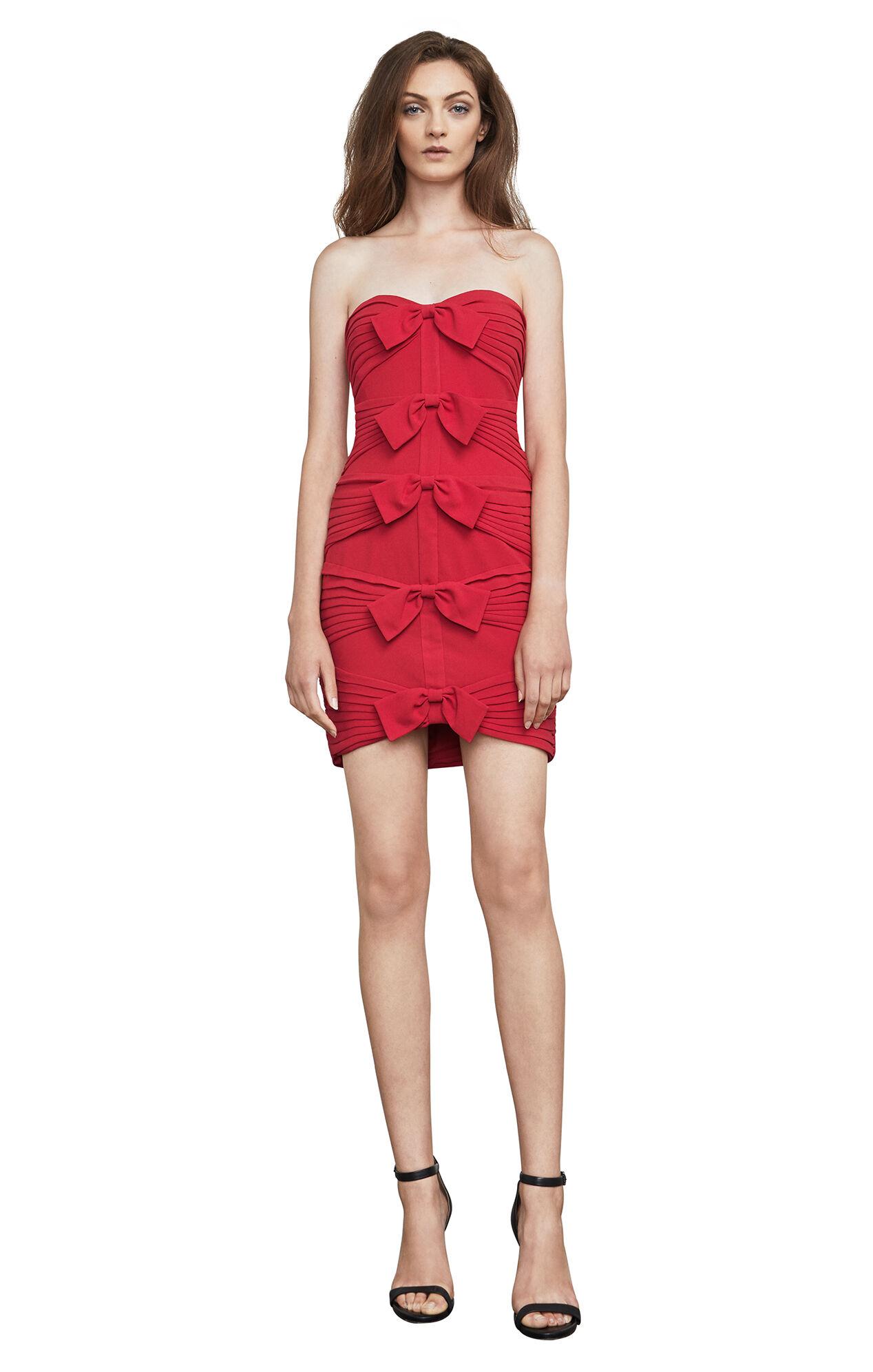 Sabrinna Strapless Bow-Tie Dress