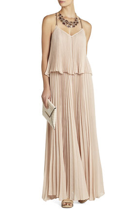 Joelle Tiered Maxi Pleated Dress