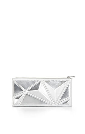 Pyramid Zip-Top Clutch