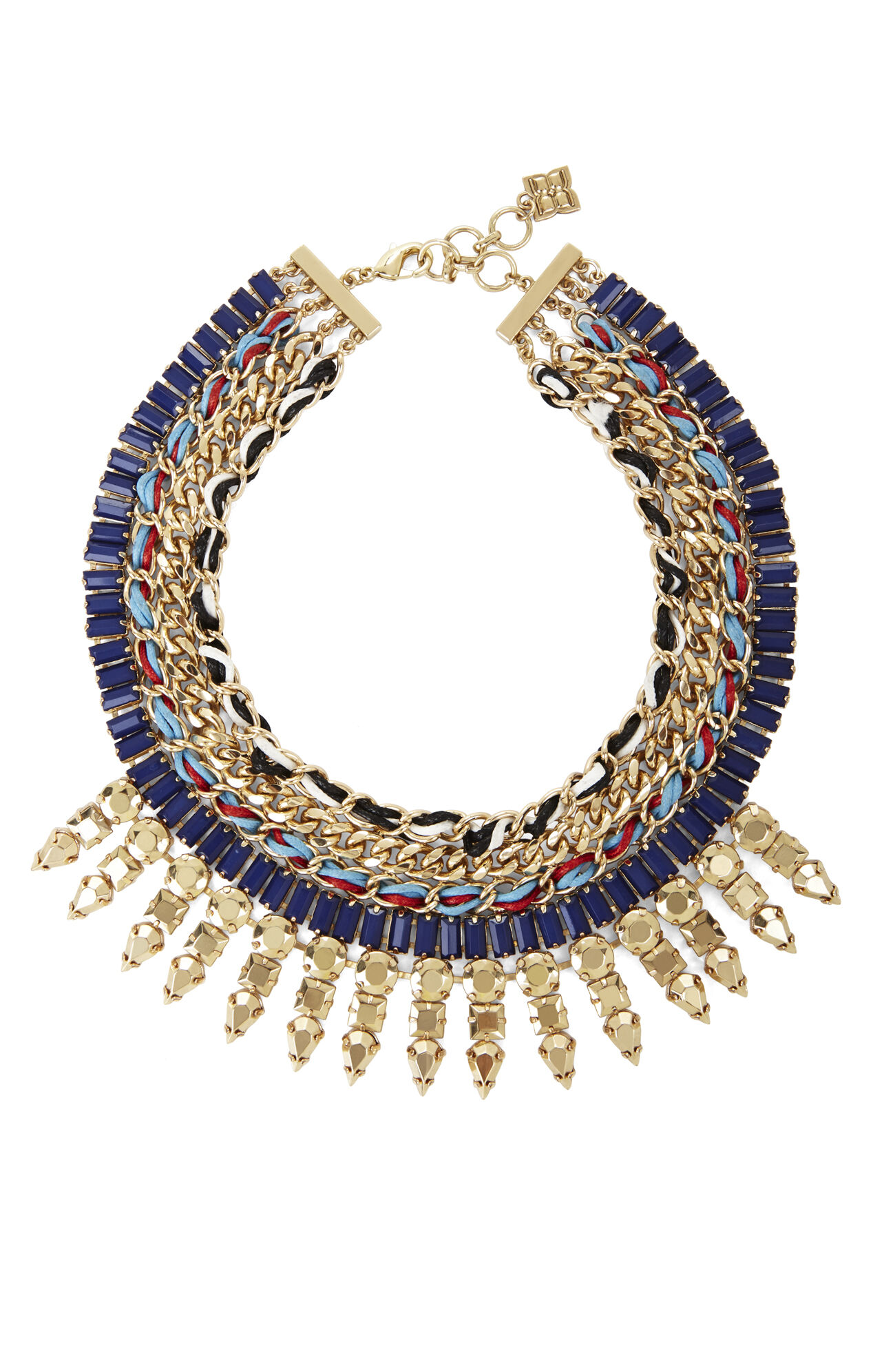 Woven Tribal Spiked Necklace