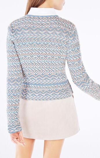 Alyna Geometric Peplum Jacket