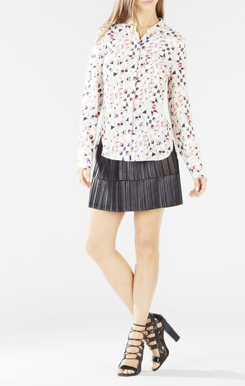 Victoriya Printed Tieback Shirt