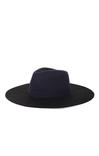 Color-Blocked Panama Hat