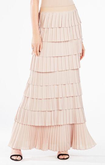 Janna Combination Pleated Skirt