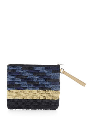 Space-Dyed Wristlet Clutch