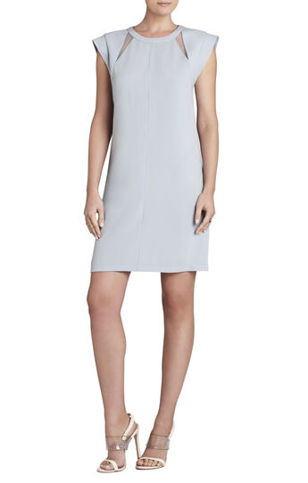 Alycia Cowl-Sleeve Sheath Dress