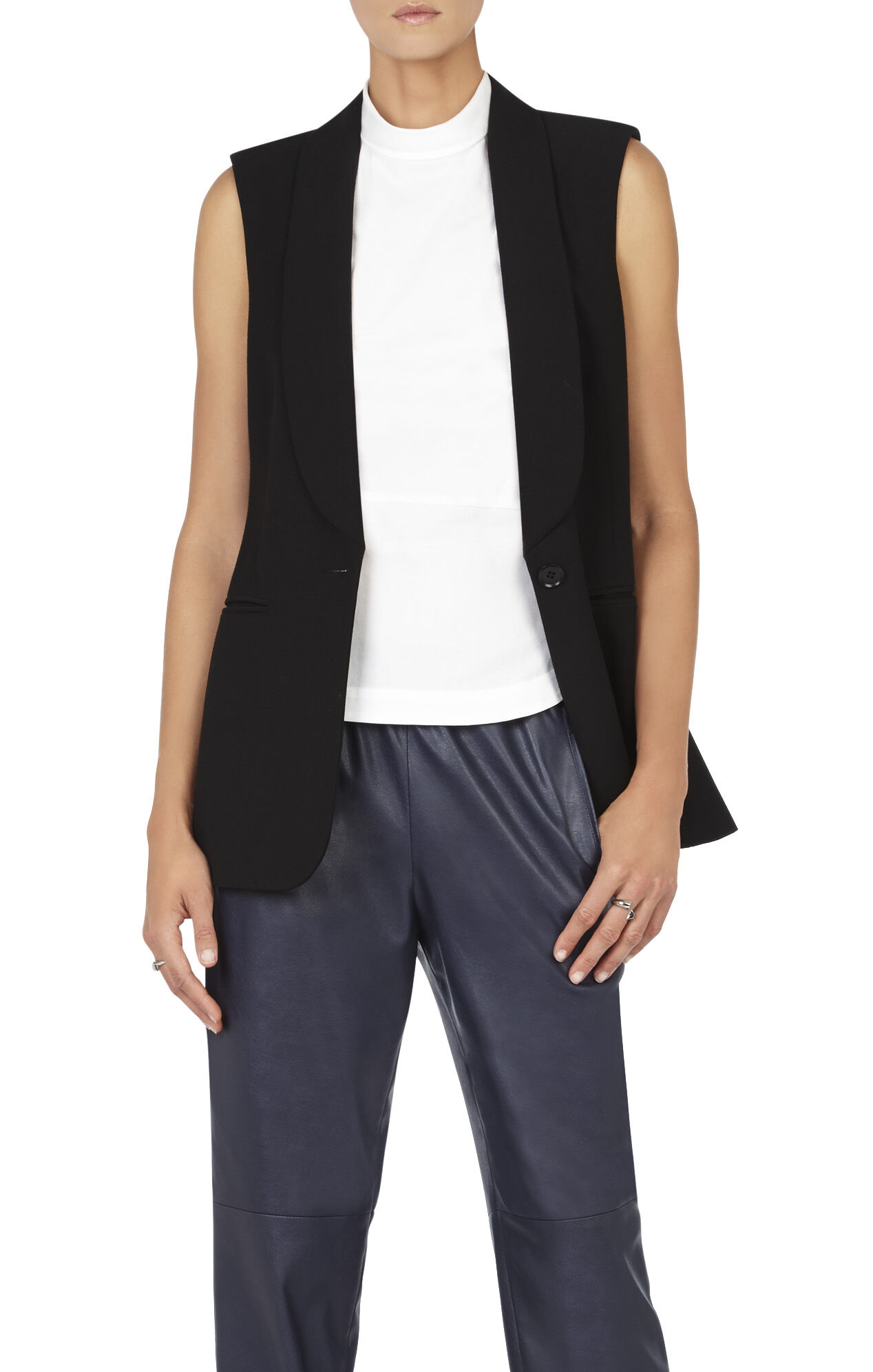 Cole Zipper-Back Vest