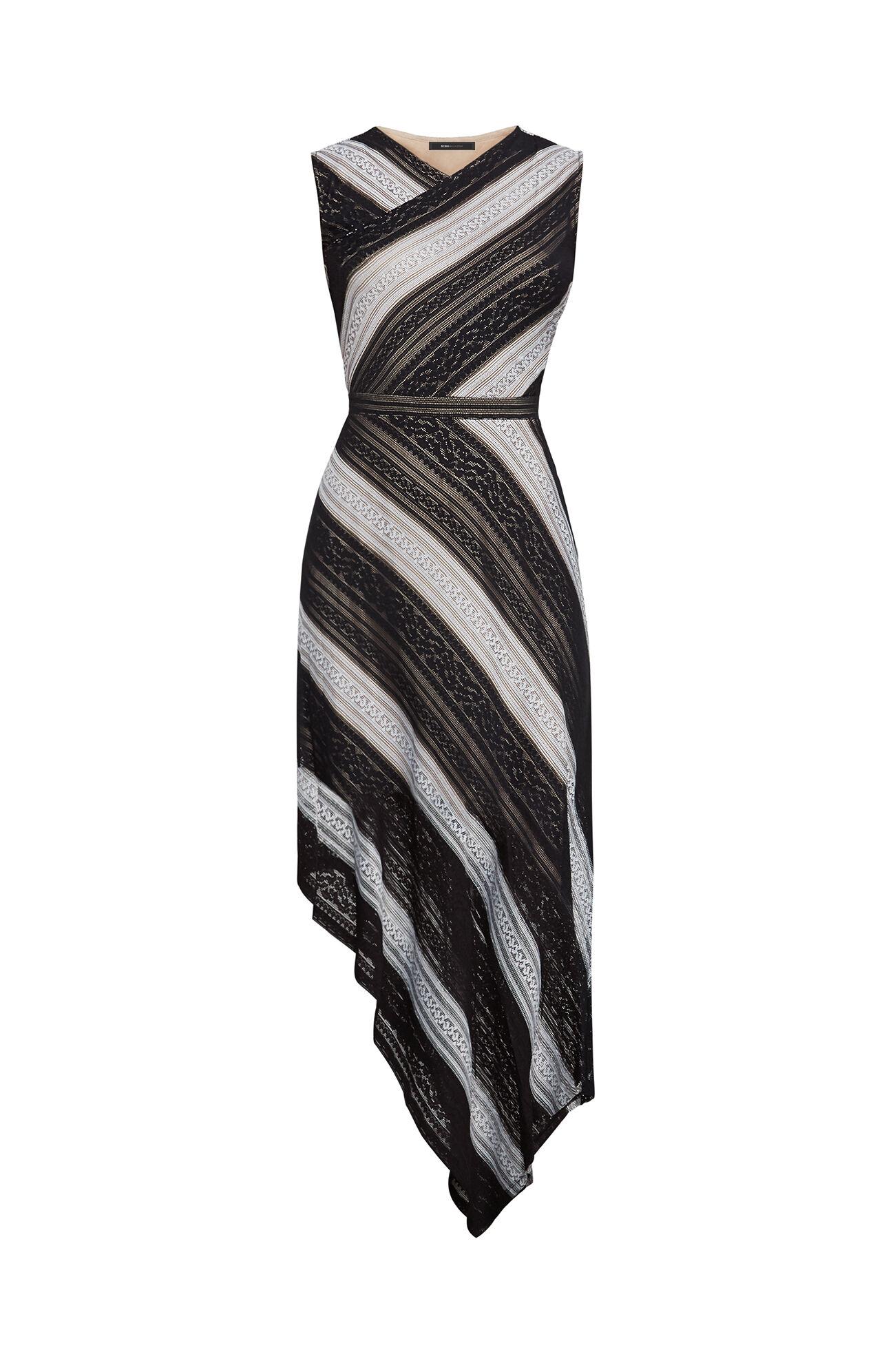 Tracie Striped Lace Dress