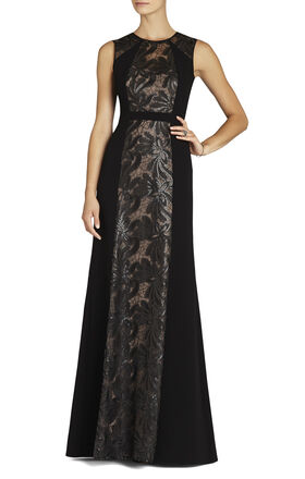 Linden Leaf Embroidered Gown
