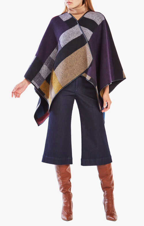 Lana Color-Blocked Poncho