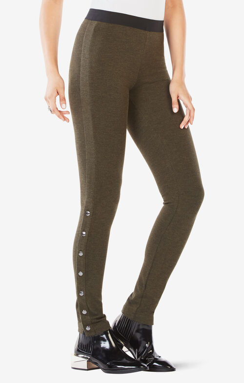 Dominick Side-Snap Leggings