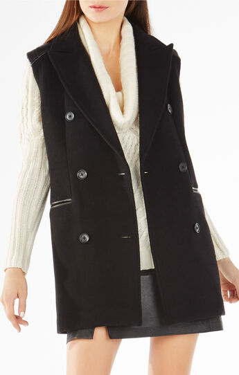 Roxy Double-Breasted Wool-Blend Vest