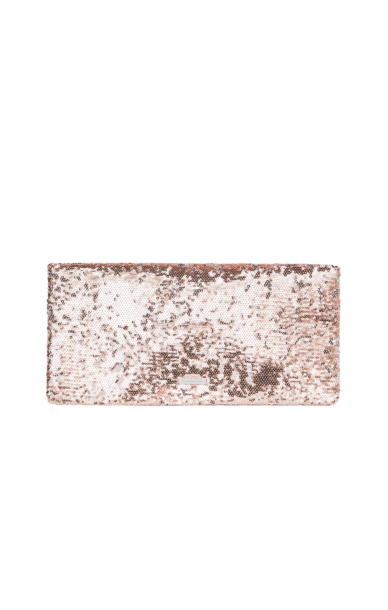 Melody Asymmetrical Sequin Foldover Clutch