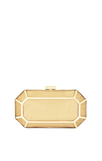 Theodora Metal Cage Gem Clutch