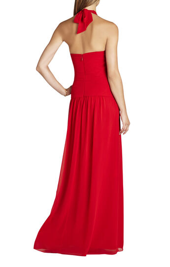 Selene Halter-Neck Ruched Gown