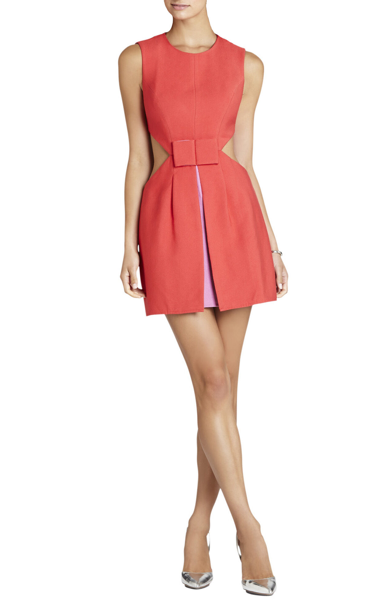 Kathryne Side-Cutout Bow-Front Dress
