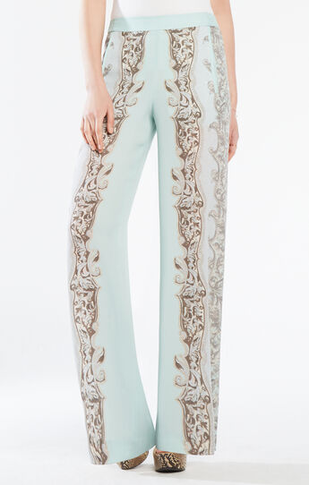 Joan Floral Print Wide-Leg Pant