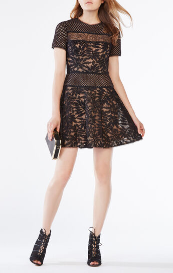 Eleanor Lace-Blocked Dress