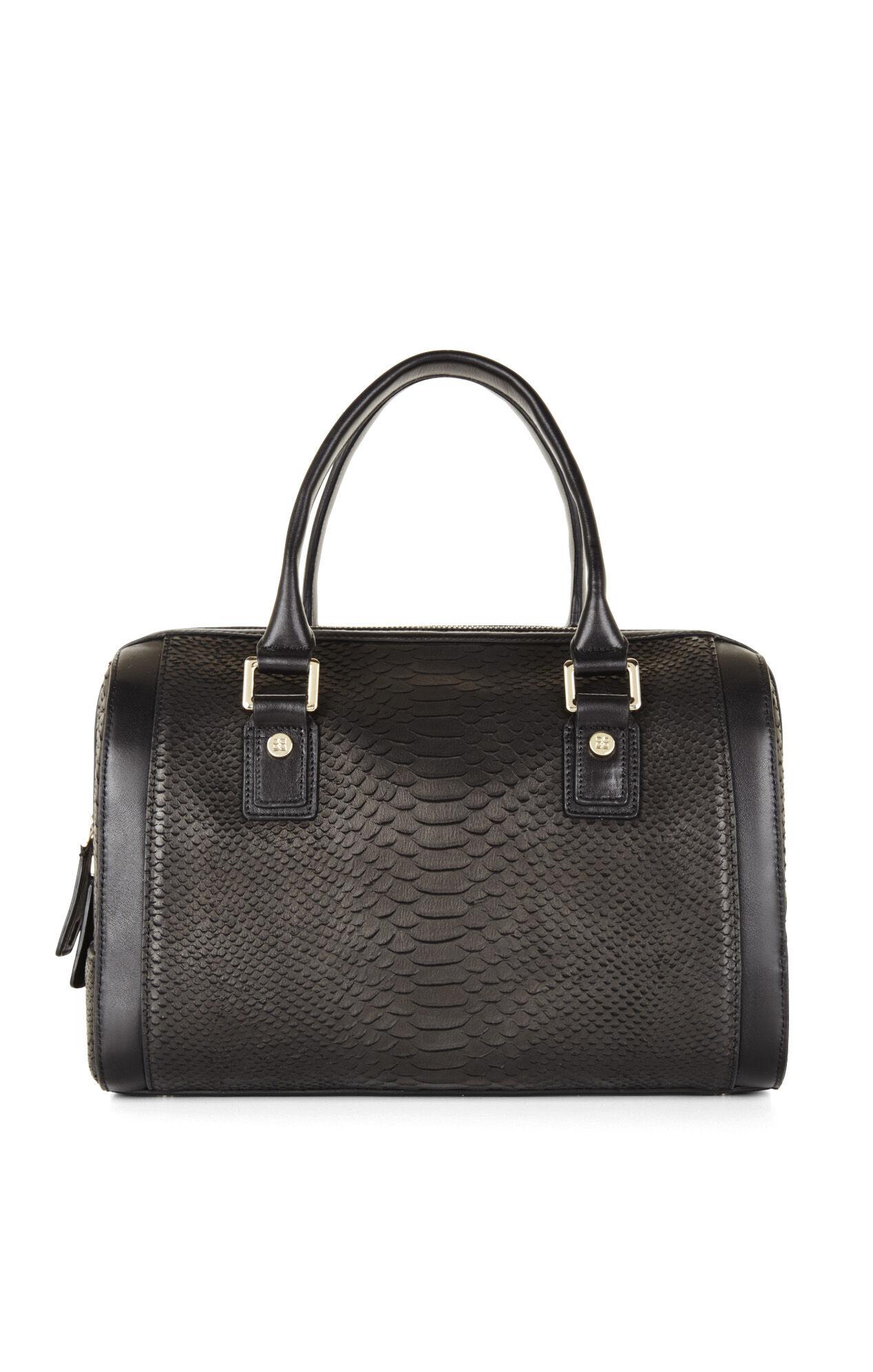 Edie Python-Embossed Duffel Bag