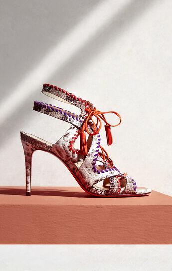 Kaari Snake Print High-Heel Sandal