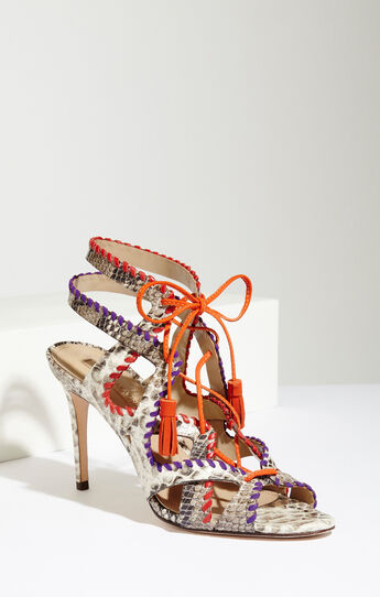 Kaari Snake Print High-Heel Sandal