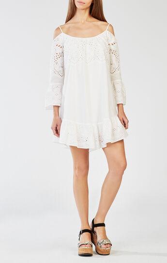 Niki Off-the-Shoulder Embroidered Dress