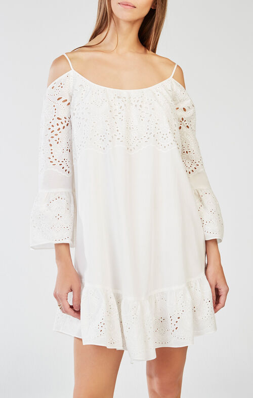 Niki Off-the-Shoulder Embroidered Dress