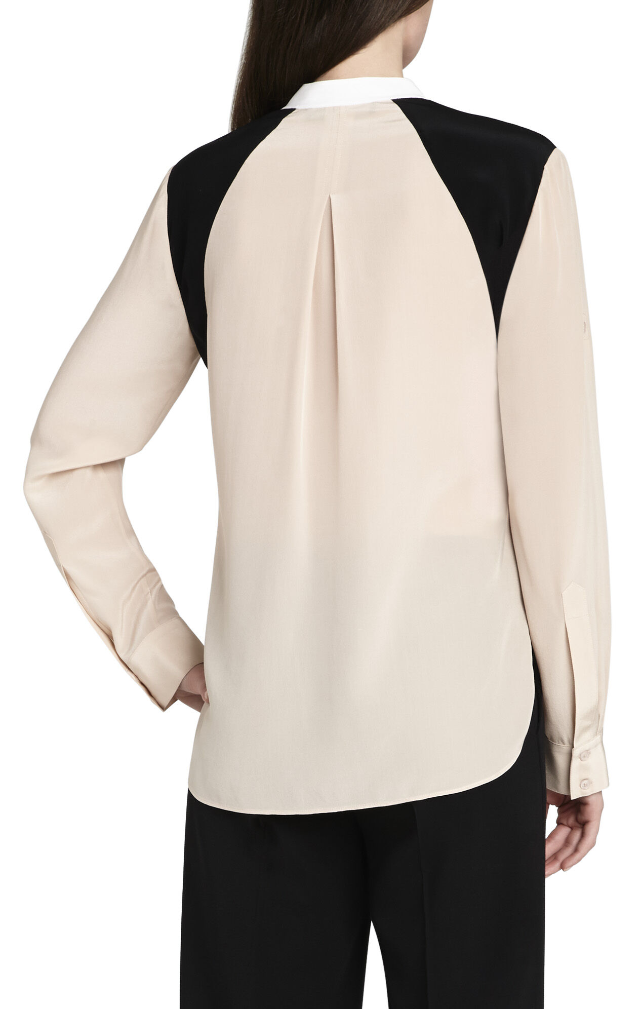 Zara Long-Sleeve Blocked Top