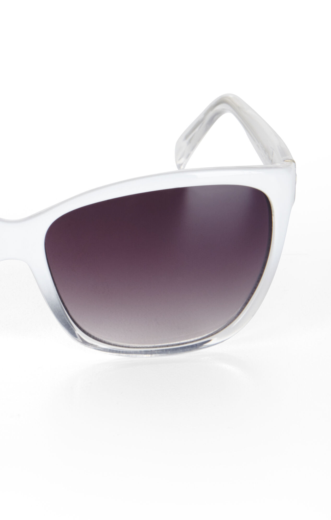Clear Cat-Eye Sunglasses