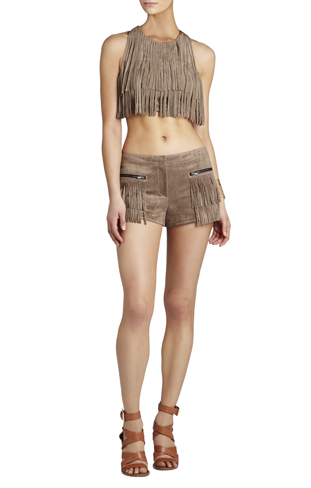 Weston Sueded Fringe Short