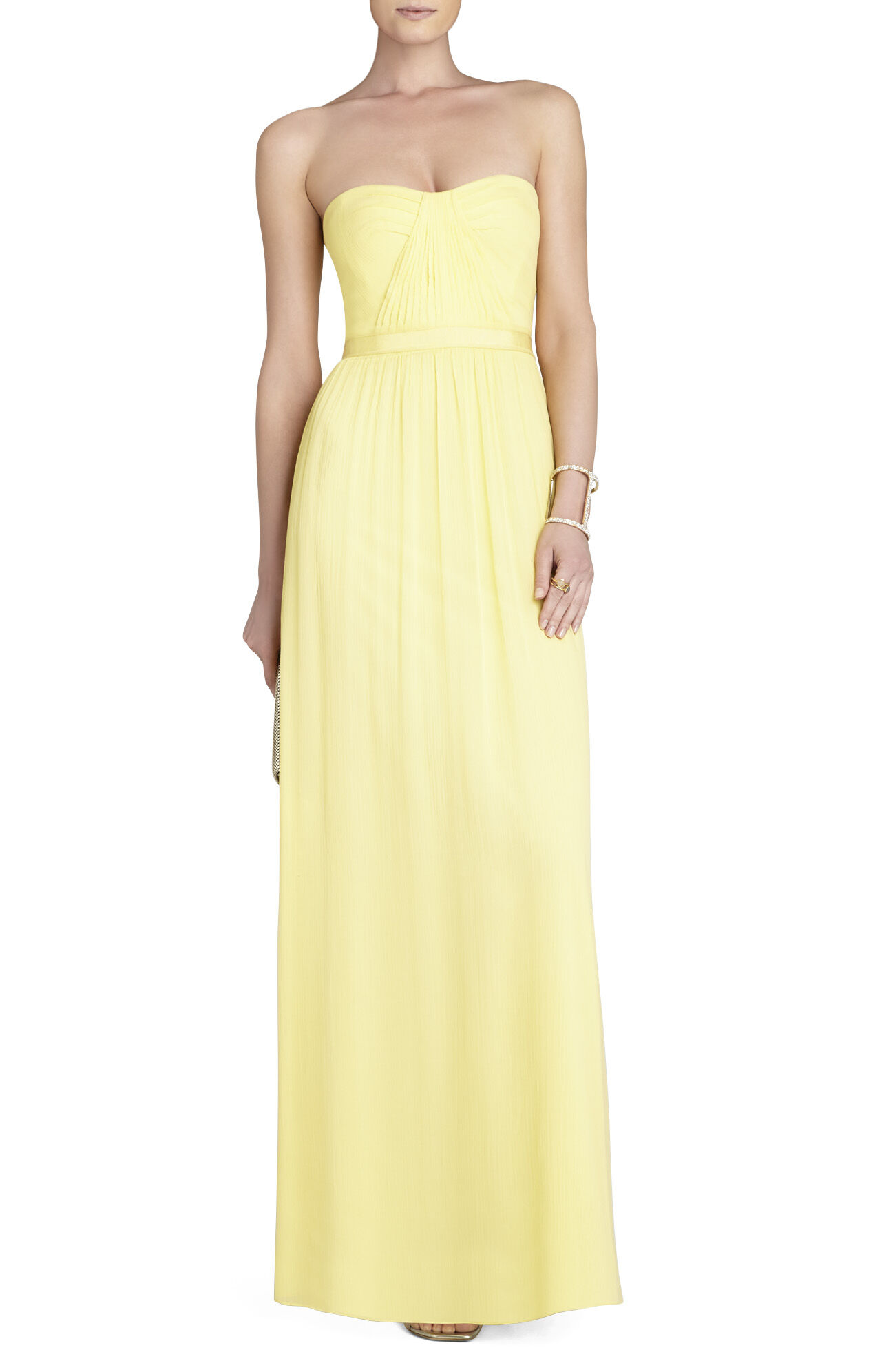 Amber Cascade Strapless Dress
