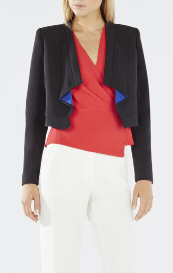 Franco Draped Collar Cropped Jacket