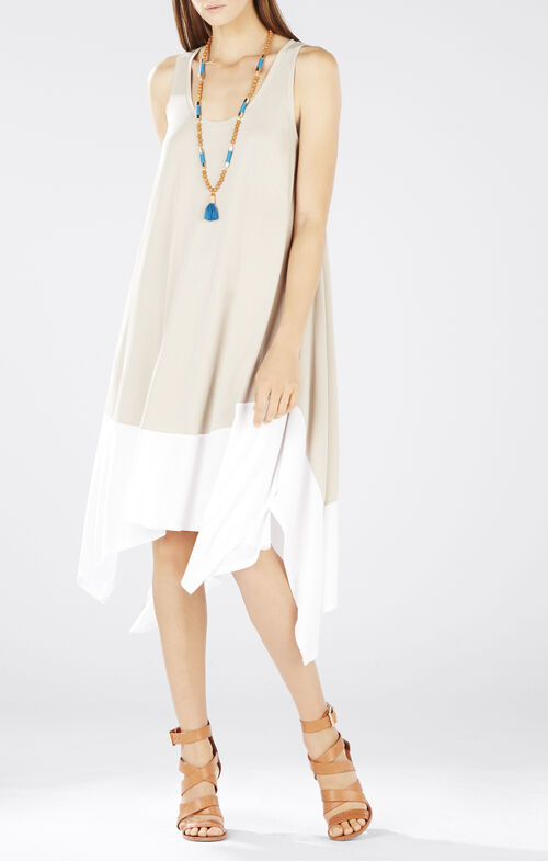 Mylene Handkerchief-Hem Knit Dress