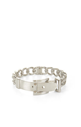 Pyramid-Buckle Chain Bracelet