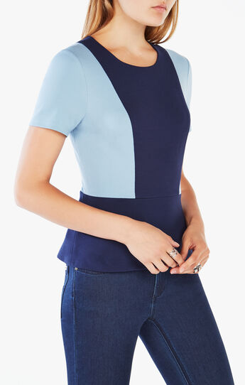 Elouise Color-Blocked Peplum Top