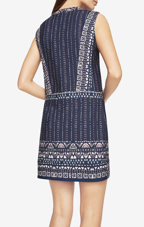 Bridgit Print-Blocked Dress