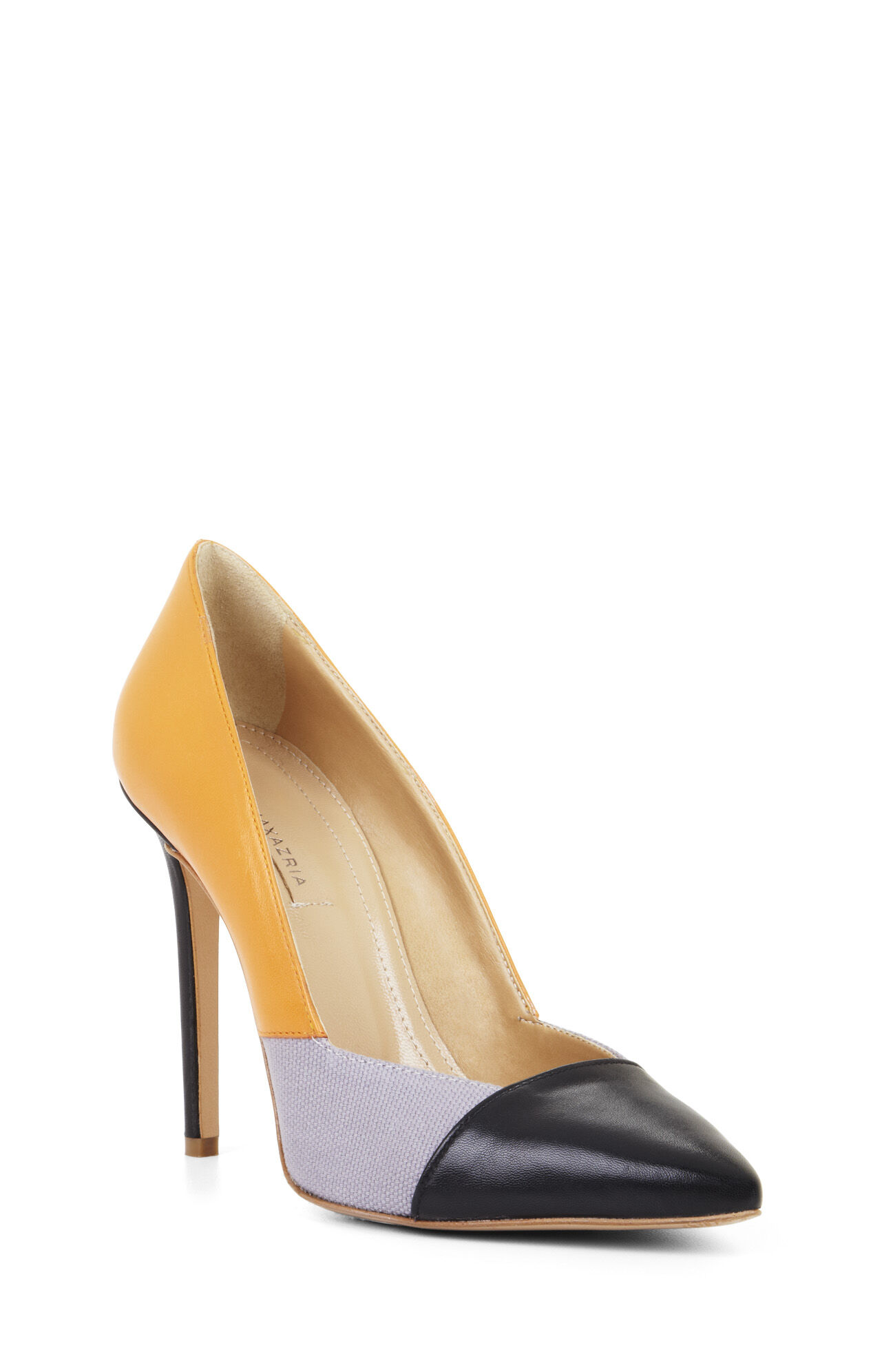 High-Heel Pointed-Toe Leather Pump