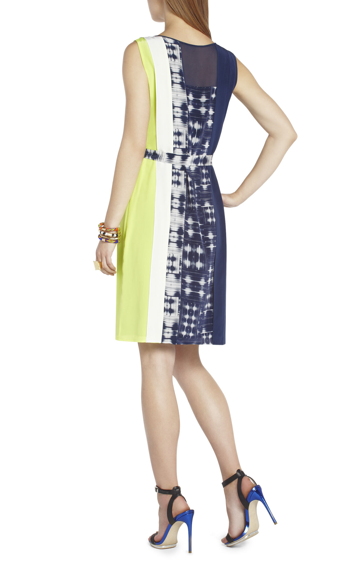 Easton Print-Block Sheath Dress