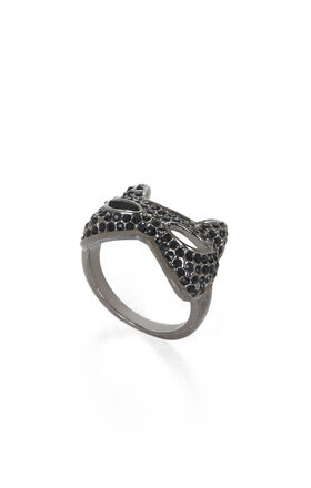 Pave Cat-Mask Ring
