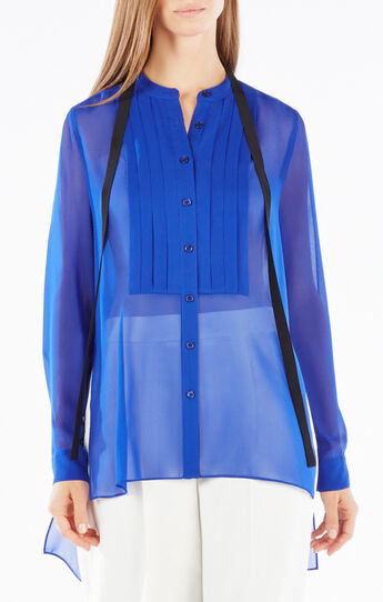 Kristian Pleated Button-Up Shirt