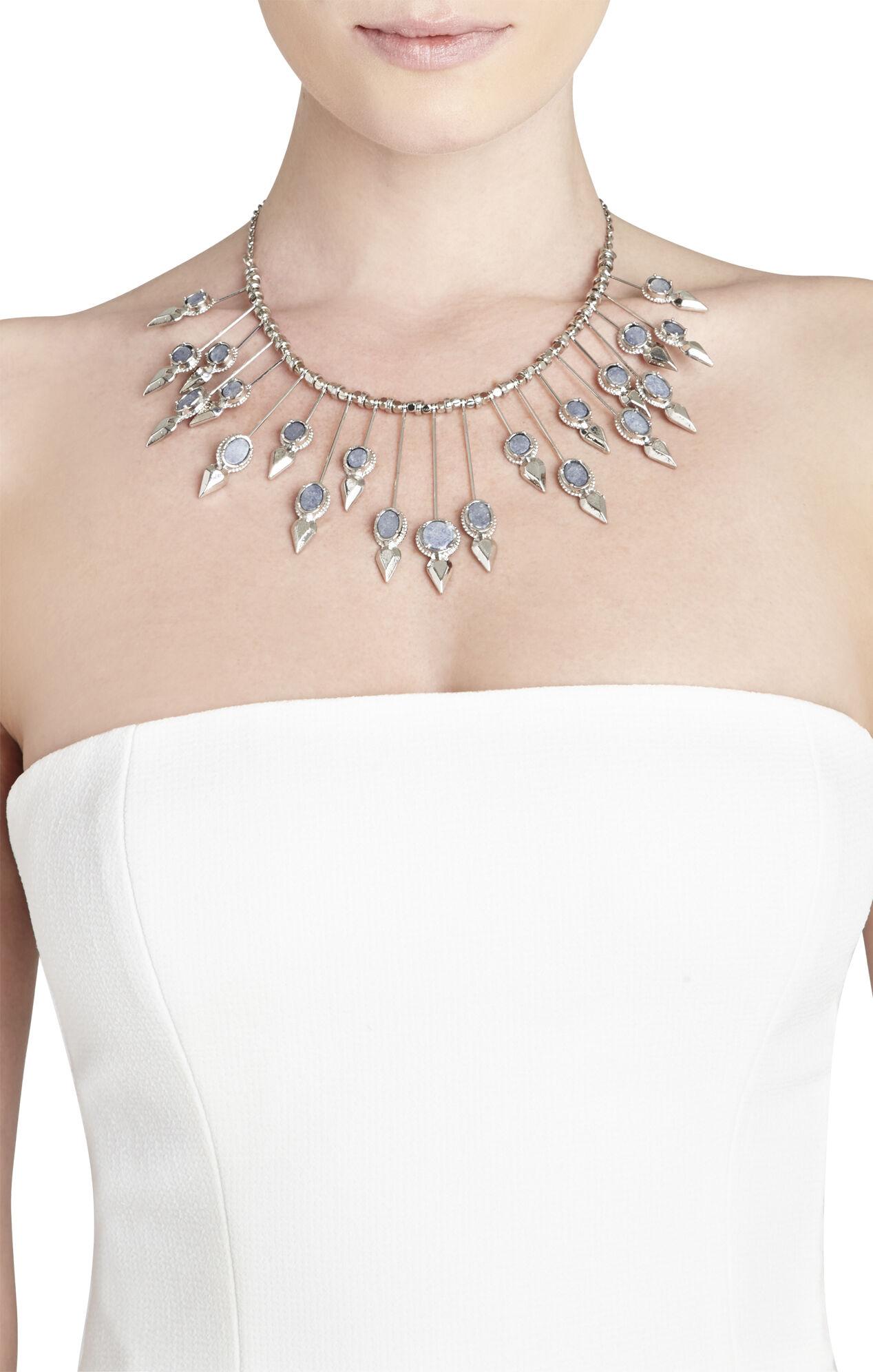 Natural-Stone Sunburst Necklace