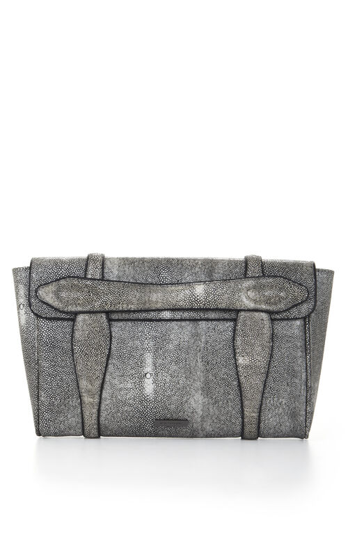 Runway Stephany Stingray-Embossed Clutch