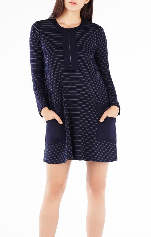 Raegan Pinstriped A-Line Dress