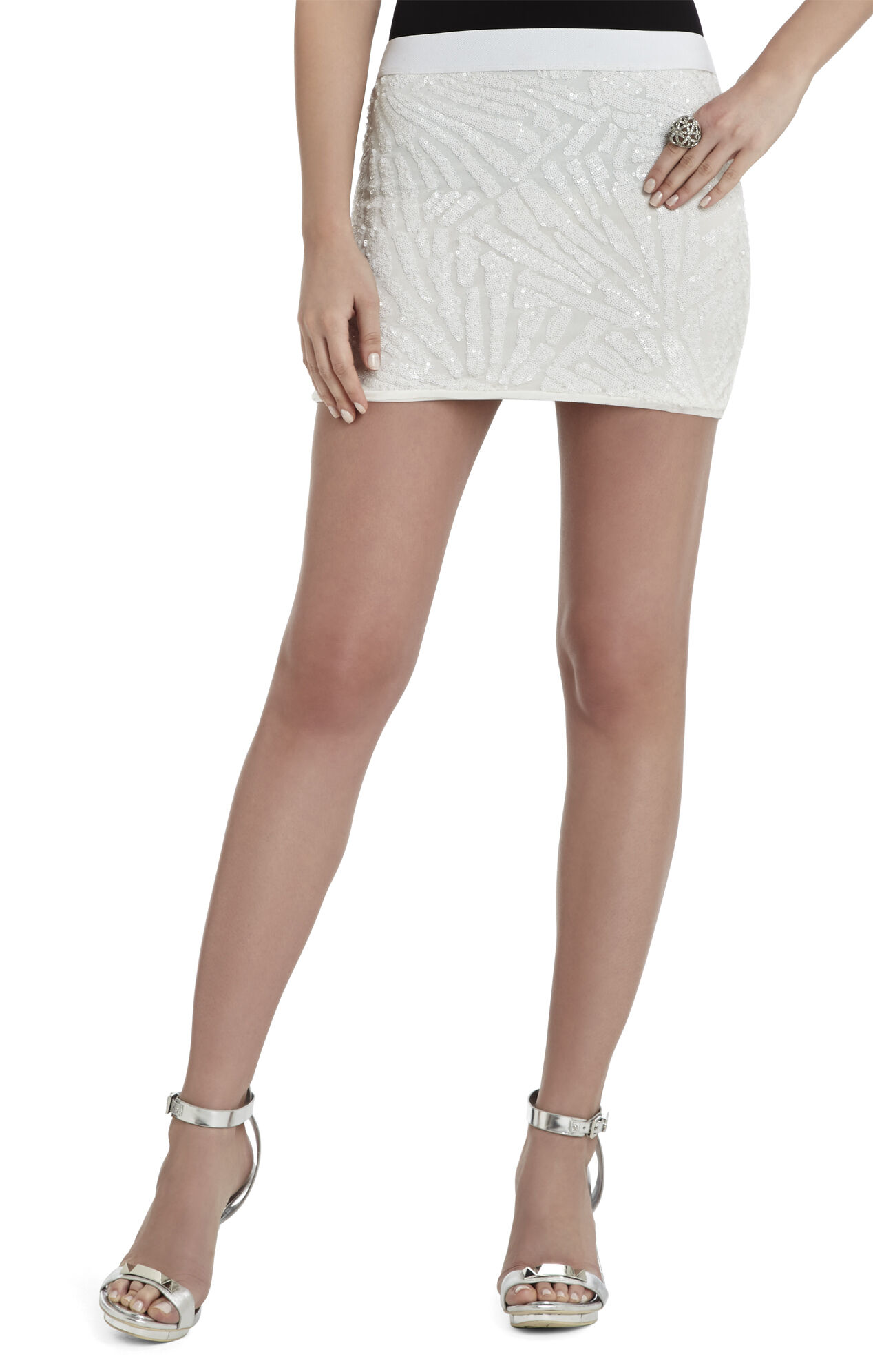 Paxton Deco Sequin-Applique Mini Skirt