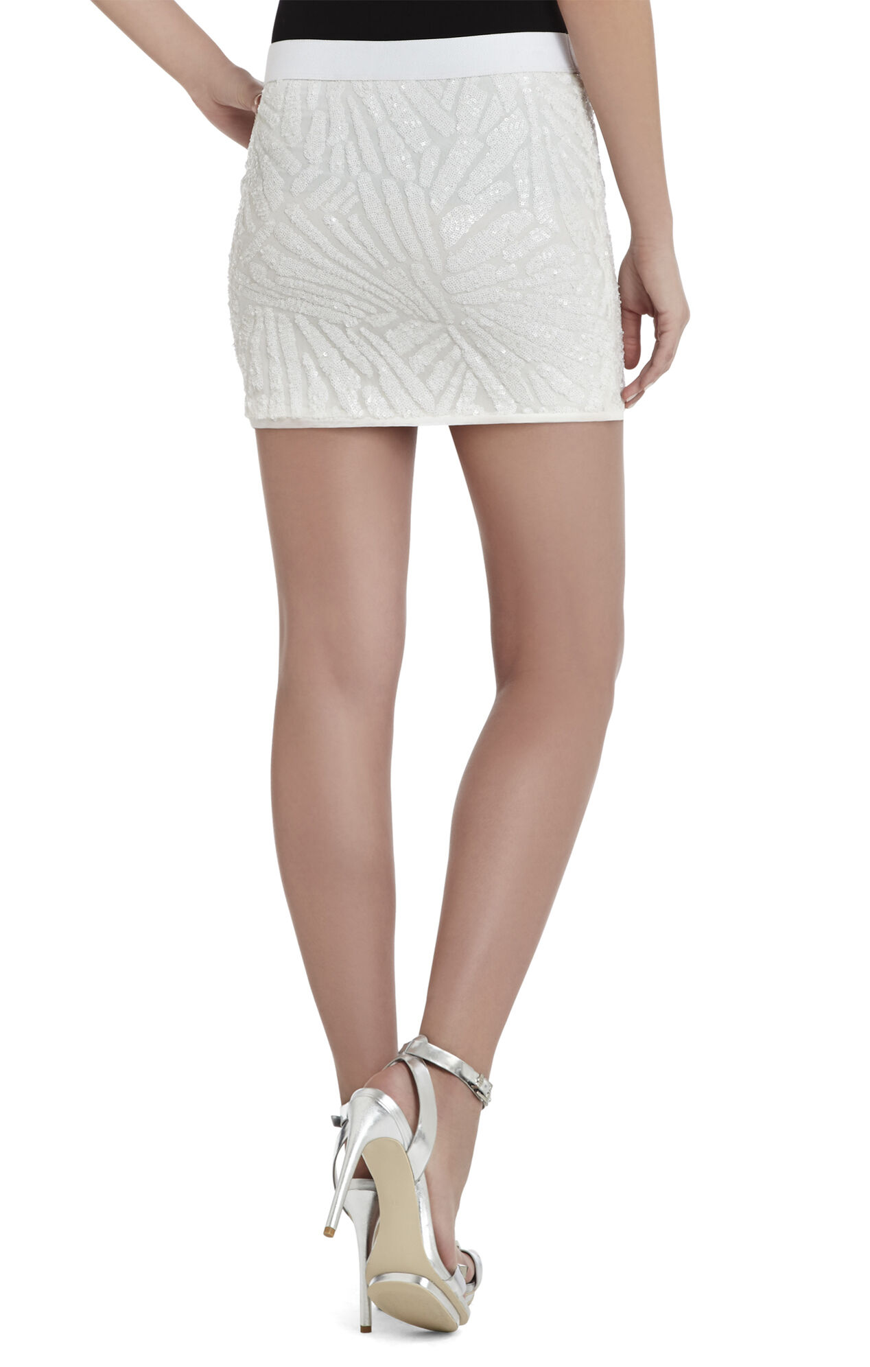 Paxton Deco Sequin-Applique Mini Skirt