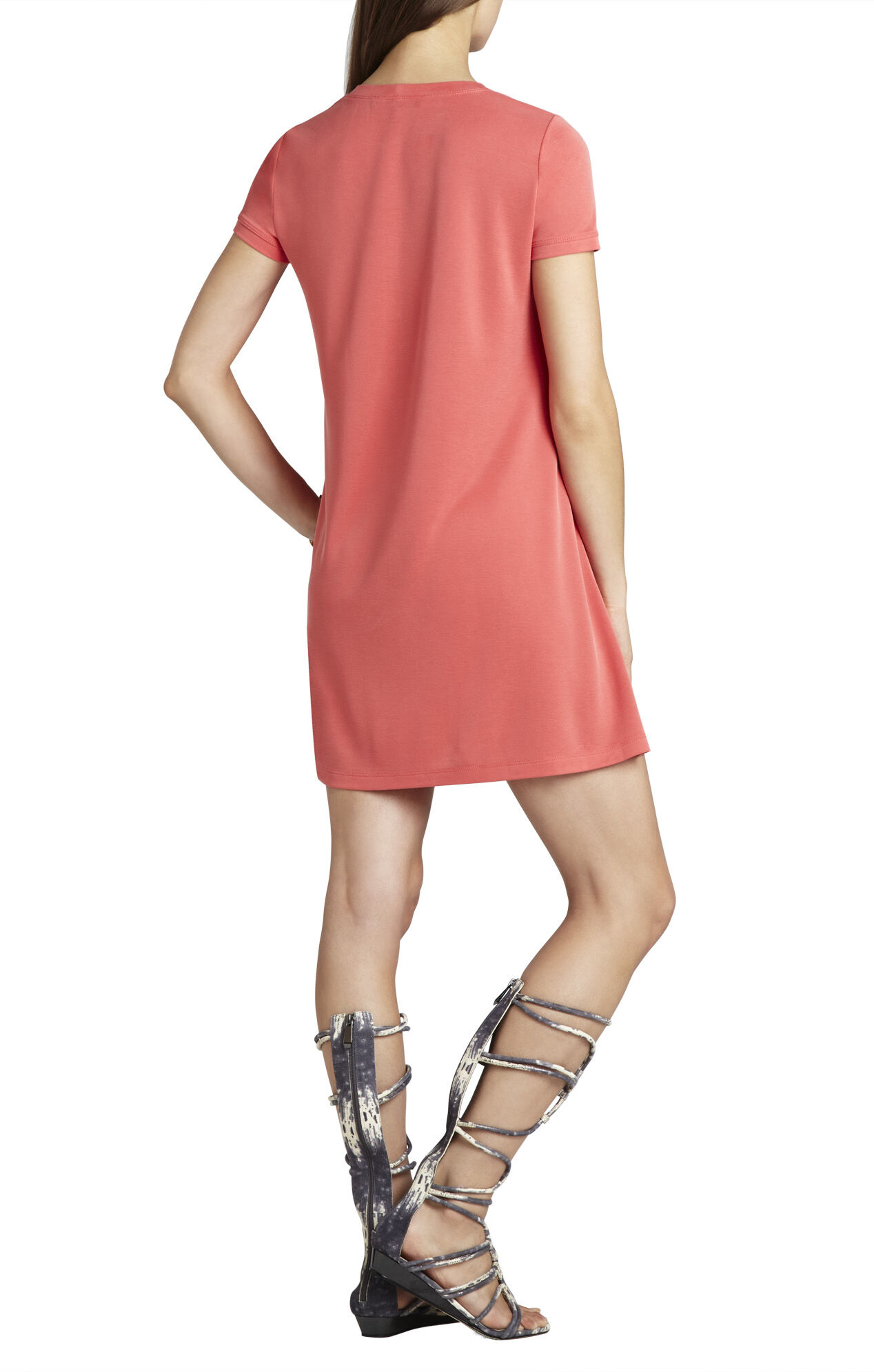 Jeanna Crewneck Short-Sleeve Dress
