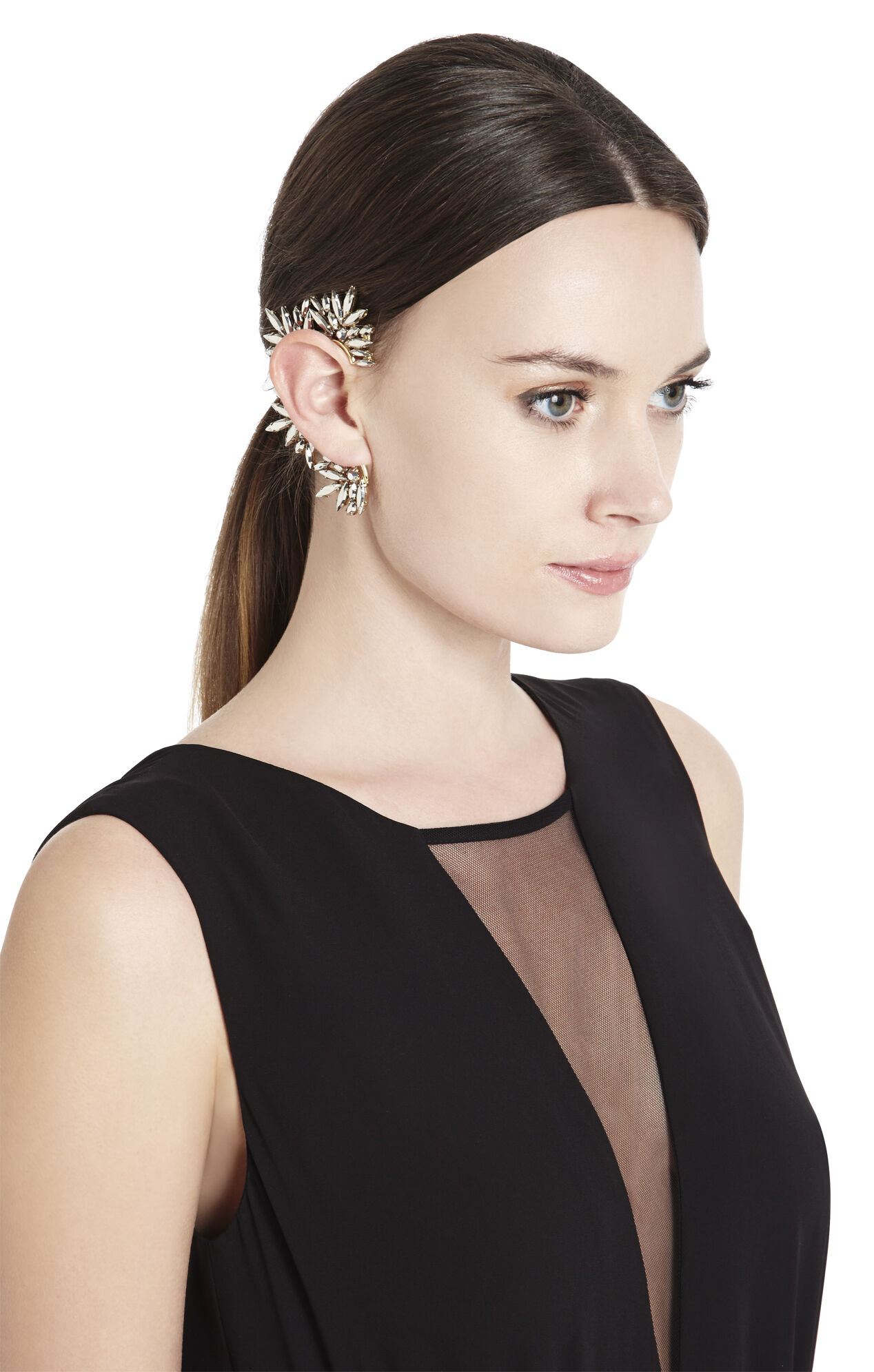 Floral-Stone Ear Cuff - Right