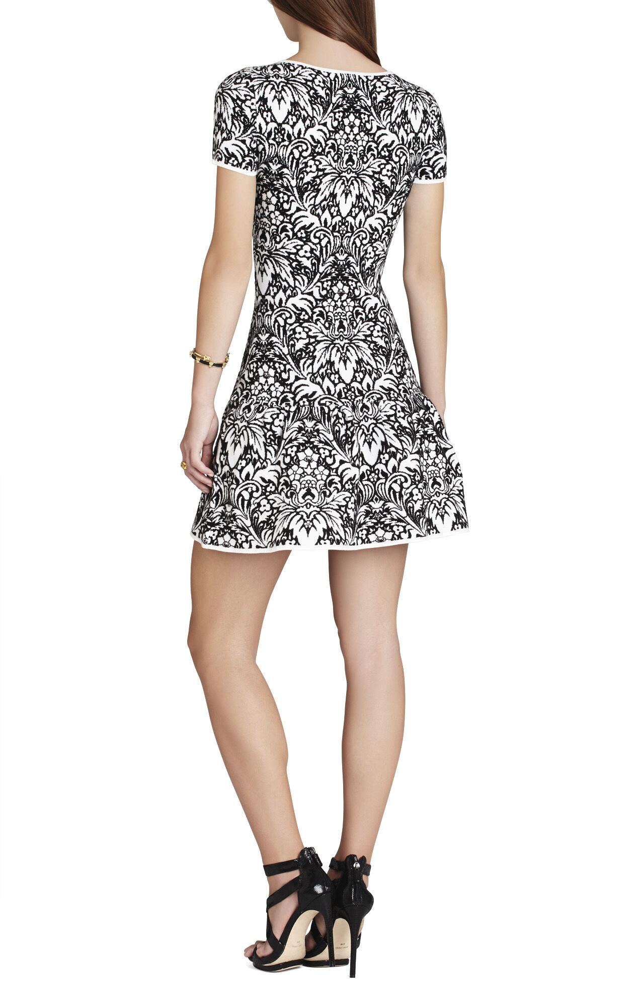 Bambi Puckered Jacquard A-Line Dress