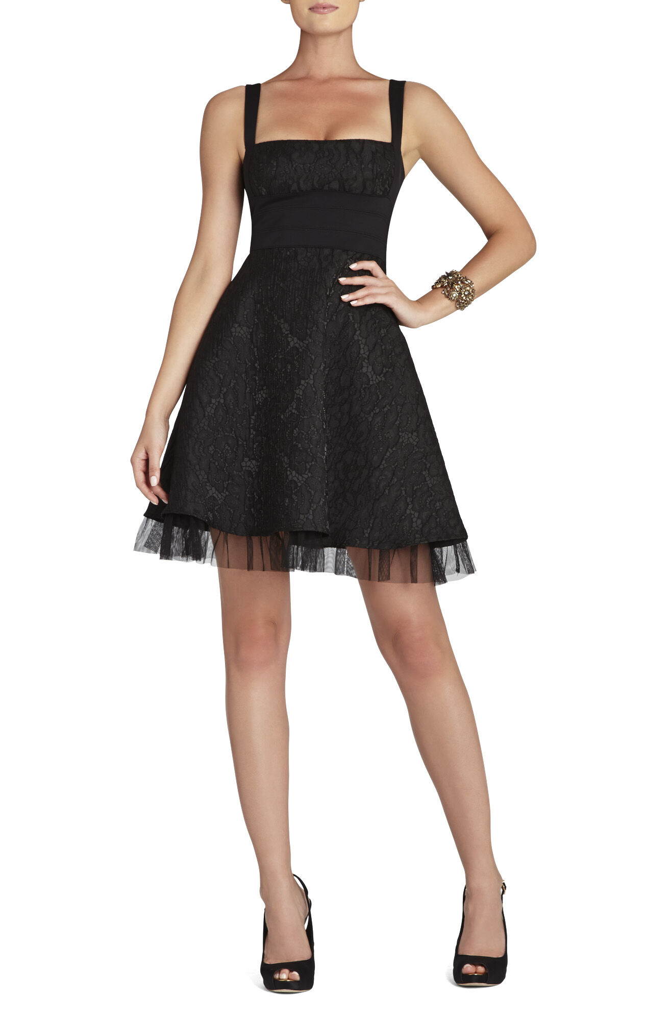 Kaya Fitted-Bodice Cocktail Dress