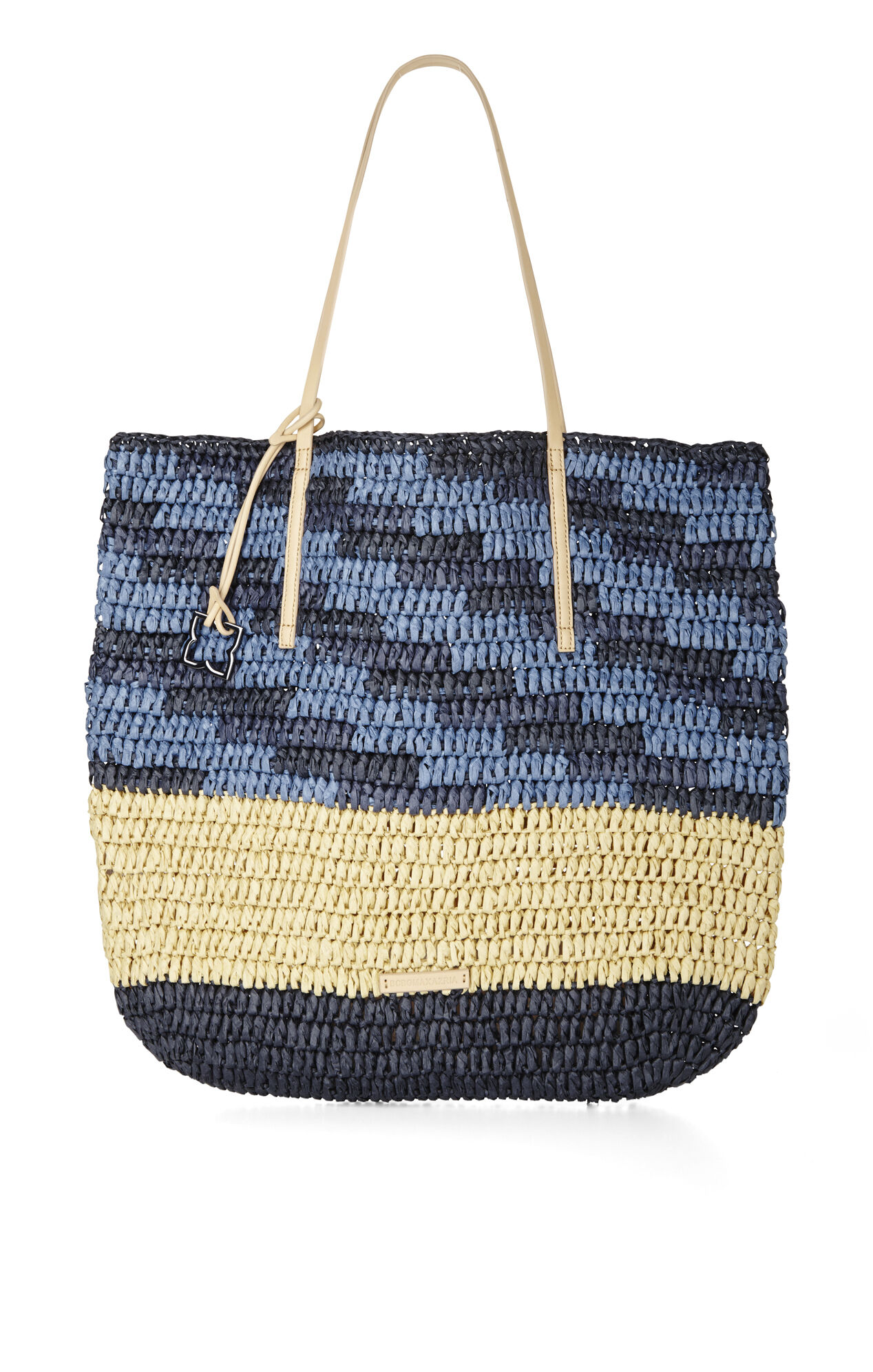 North-South Space-Dyed Straw Tote